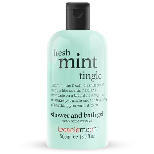 Гель для душа Treaclemoon свежая мята Fresh Mint Tingle bath & shower gel, 500ml tropiclean fresh breath gel vanilla mint гель для собак для чистки зубов ваниль и мята 59 мл
