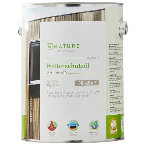 Фото - Масло GNATURE 280 Wetterschutzöl, прозрачный, 2.5 л масло dr schutz h2oil прозрачный 0 75 л