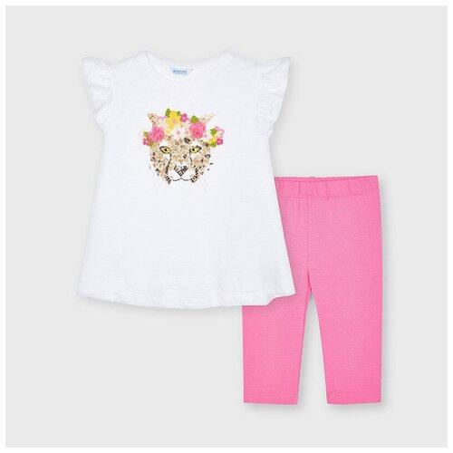 Комплект одежды Mayoral размер 5(110), белый/розовый комплект одежды mayoral размер 110 белый красный