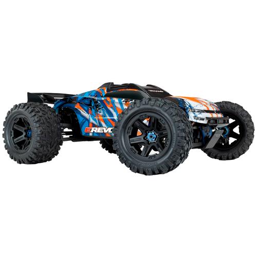 Купить Трагги Traxxas E-Revo 6S (TRA86086-4) 1:10 58.5 см синий/оранжевый, Радиоуправляемые игрушки