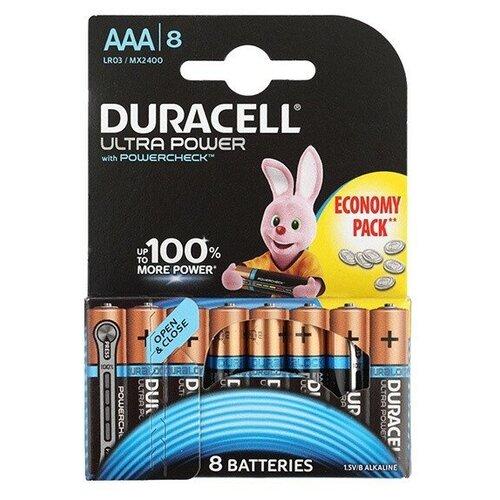 Фото - Батарея Duracell Ultra Power LR03-8BL AAA (8шт) батарея duracell ultra power lr03 4bl aaa 4шт