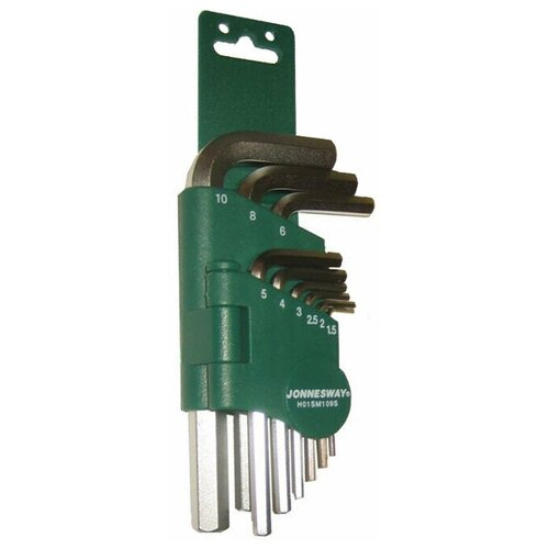 Фото - Набор имбусовых ключей JONNESWAY H01SM109S, 9 предм., зеленый набор бит jonnesway s29h4115s 15 предм зеленый