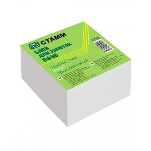 СТАММ Блок для записи на склейке Офис, 9х9х5 см, белизна 65-70% (БЗ61) белый, Бумага для заметок  - купить со скидкой