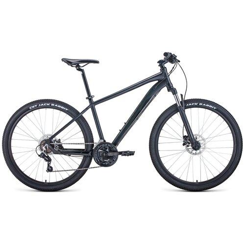 Горный (MTB) велосипед FORWARD Apache 27.5 3.0 Disc (2021) черный 19 (требует финальной сборки) горный mtb велосипед forward apache 27 5 1 2 s 2021 желтый зеленый 19 требует финальной сборки