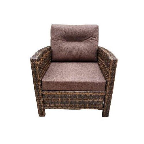 Кресло Венеция, плетеное из искусственного ротанга орех градиент с подушками
