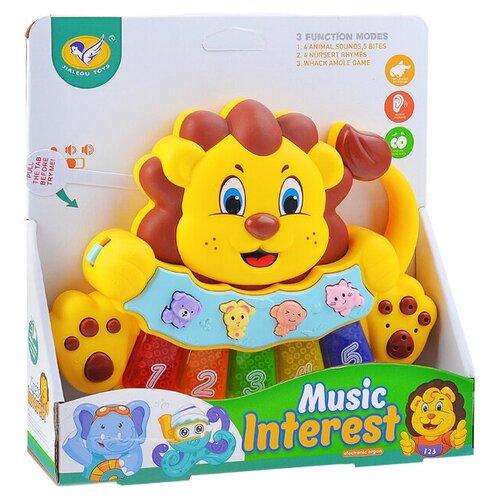 Купить Развивающая игрушка Jialegu Toys Львенок (855-33D), желтый, Развивающие игрушки