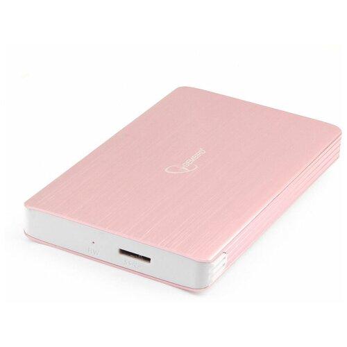 "Внешний корпус для HDD 2.5"" Gembird EE2-U3S-65 розовое золото USB 3.0 SATA алюминий"