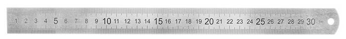 Анонс-изображение товара линейка 30см artspace, стальная, пвх чехол с европодвесом, лс-30-526
