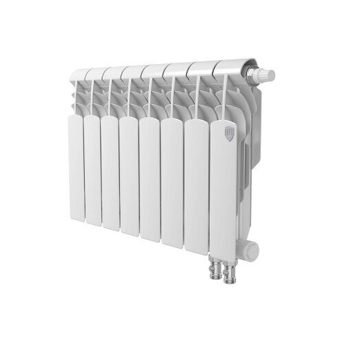 Радиатор секционный биметаллический Royal Thermo Vittoria 350 VD, кол-во секций 8, 640 мм. радиатор секционный алюминиевый royal thermo revolution 350 8 секций