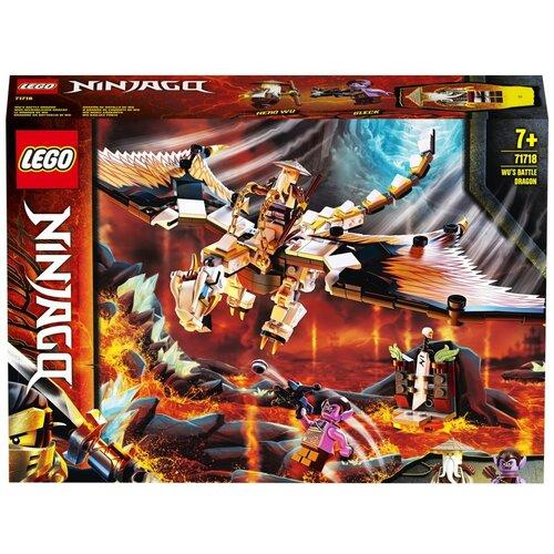 Фото - Конструктор LEGO Ninjago 71718 Боевой дракон Мастера Ву конструктор lego ninjago 70599 дракон коула