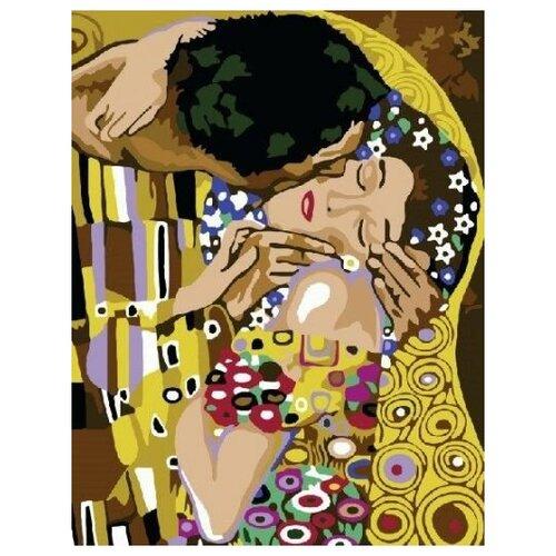 Купить Картина по номерам Paintboy «Поцелуй. Густав Климт» (холст на подрамнике, 50х40 см), Картины по номерам и контурам