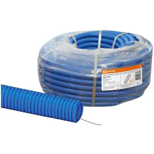 Труба гофрированная ПНД d 32 с зондом (50 м) легкая синяя TDM труба гофрированная пнд d 40 с зондом 25 м легкая оранжевая tdm