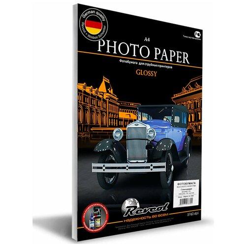 Фото - Фотобумага, REVCOL, глянцевая, A4, 180г/м2, 50 л. фотобумага revcol матовая двухсторонняя a4 330г м2 50 л