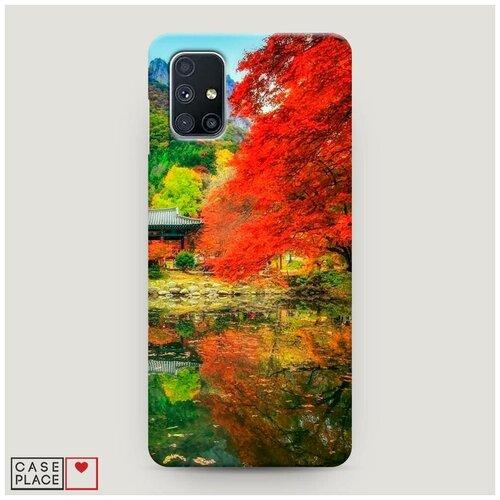 Чехол Пластиковый Samsung Galaxy M51 Осенний сад