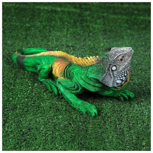Садовая фигура Игуана 3262432 фигура игуана 23х46х27см бронза серебро