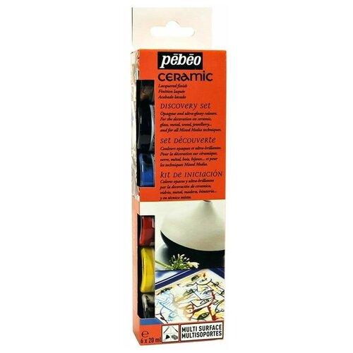 Купить Краски Pebeo Ceramic Discovery Set 753405 6 цв. (20 мл.), Витражная роспись