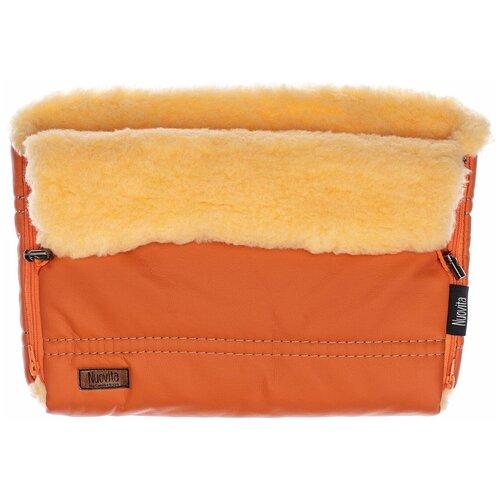 Nuovita Муфта меховая для коляски Alpino Lux Pesco arancio/оранжевый