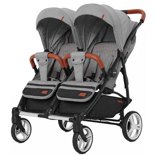 Купить Прогулочная коляска для двойни CARRELLO Connect CRL-5502, ink grey, Коляски