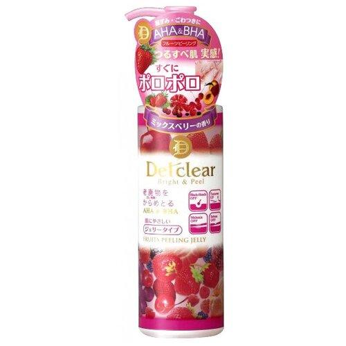 Meishoku пилинг-гель для лица Detclear Fruits peeling jelly очищающий с AHA и BHA и эффектом сильного скатывания 180 мл meishoku разогревающий и очищающий крем гель с aha и bha кислотами 200 г