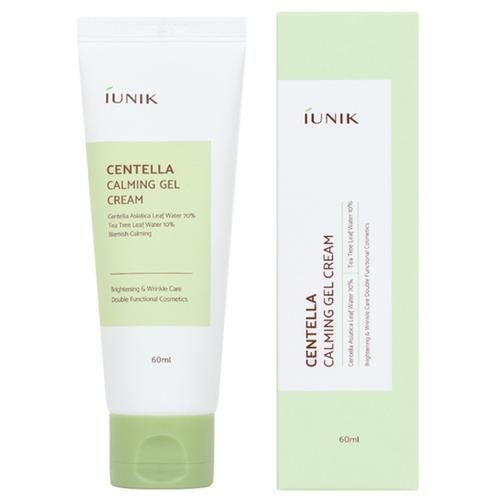 Купить IUNIK Centella Calming Gel Cream Успокаивающий гель-крем для кожи лица с центеллой азиатской и чайным деревом, 60 мл