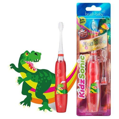 Brush-Baby KidzSonic звуковая зубная щетка Динозавр от 3 лет brush baby kidzsonic звуковая зубная щетка ракета от 3 лет