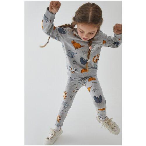 Купить Джемпер для девочек размер 116, серый, ТМ Acoola, арт. 20220150014, Толстовки