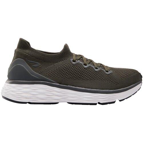 Кроссовки для бега женские COMFORT KNIT хаки, размер: EU41, цвет: Чёрно-Зелёный Цвет KALENJI Х Декатлон