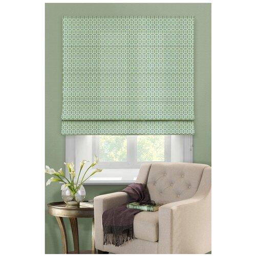 Фото - Римская штора Эскар Линза (зеленый), 120х160 см римская штора эскар линза синий 160х160 см