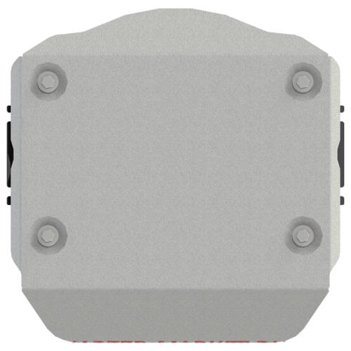 Защита ЭБУ муфты полного привода Sheriff на Ауди А6 2018-2020, модель №3, алюминиевый сплав 4мм, арт:02.4082-1