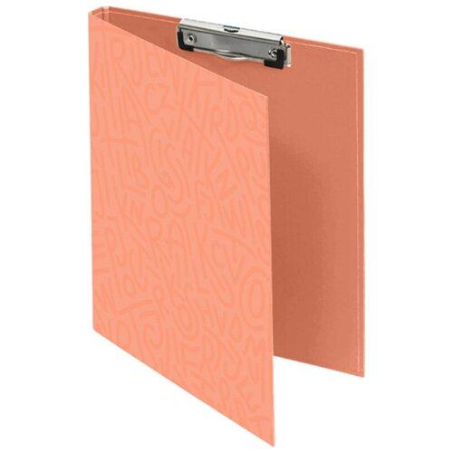 Купить LAMARK450 Папка-планшет с крышкой Delight Time А4, с верх. заж., ламин. картон, корешок 10 мм, дыня, Файлы и папки
