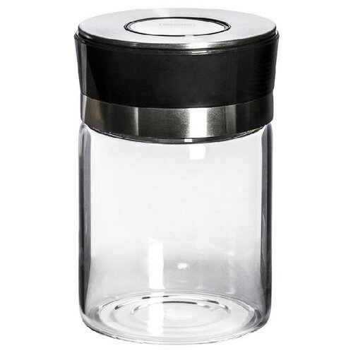 HAUSMANN Емкость для хранения HM-13210050006 720 мл бесцветный/черный/серебристый hausmann кофр для хранения hm 6a 202 60x45x30 см серый