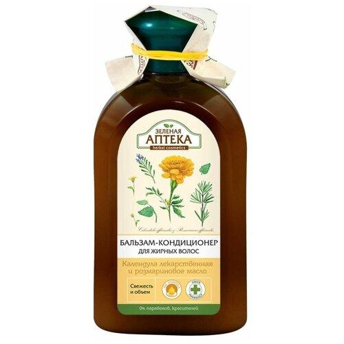 Зелёная Аптека бальзам-кондиционер Календула и розмариновое масло для жирных волос, 300 мл