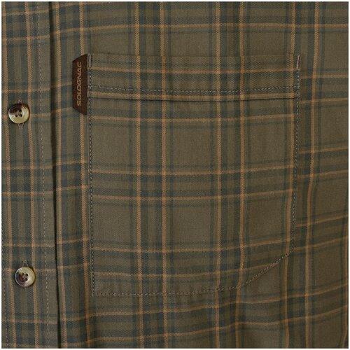 Рубашка муж. для охоты с длинными рукавами 100, размер: XL ВЗРОСЛЫЕ, цвет: Зеленый SOLOGNAC Х Декатлон