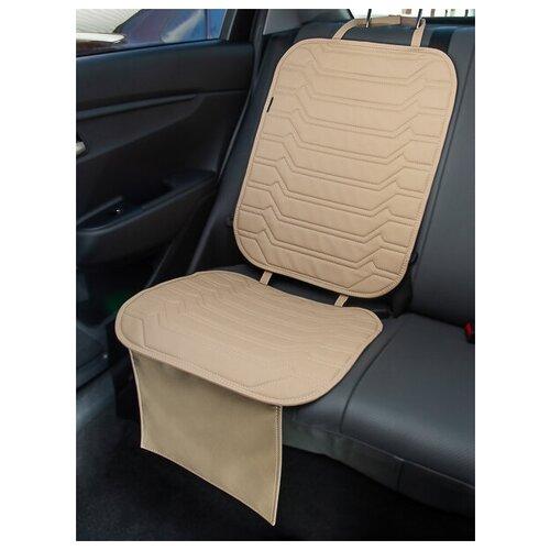 Чехлы (накидки) под автокресло. Защита сидений авто. Цвет: бежевый. 1 шт. КОЛИБР
