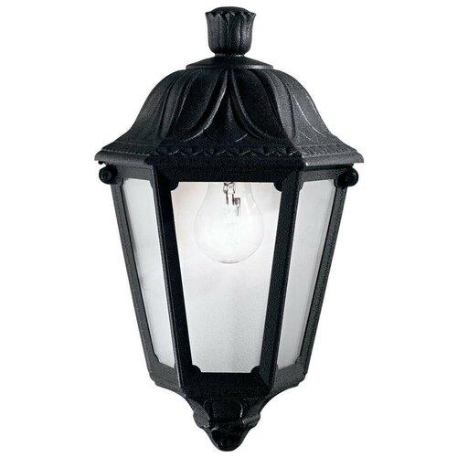 Уличный настенный светильник Ideal Lux Anna AP1 Small Nero 101552 настенный светильник ideal lux flash ap1 bianco
