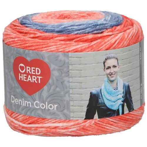 Купить Пряжа для вязания Red Heart 'Denim color' 150гр 340м (100% акрил) (00005 магнит) 3 мотка