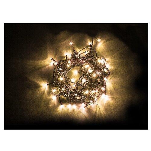 Гирлянда Feron Нить CL93 500 см, 750 ламп, теплый белый/зеленый провод гирлянда feron нить cl34 1000 см 100 ламп теплый белый черный провод