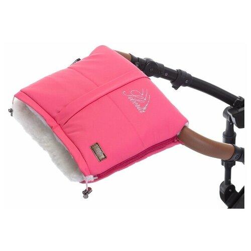 Муфта меховая для коляски Nuovita Siberia Bianco (Rosa/Белый, Розовый)