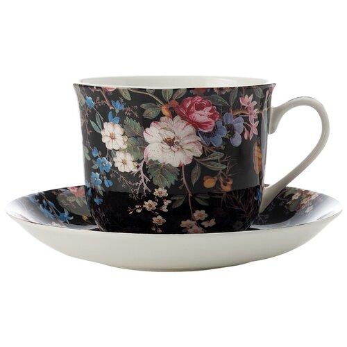 Фото - Чайная пара MAXWELL & WILLIAMS Полночные цветы, 480 мл, черный/розовый/синий пара чайная priority дыхание прованса вишня 480 мл