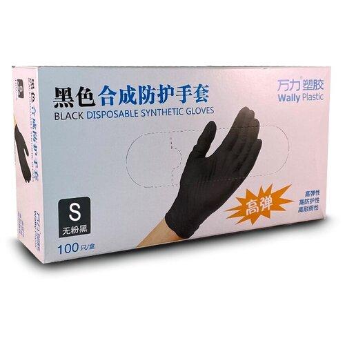 Фото - Перчатки Wally Plastic нитриловые, 50 пар, размер S, цвет черный перчатки aviora нитриловые 50 пар размер s цвет черный