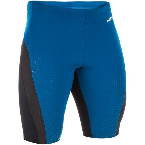 Плавки мужские сине-черные FIT, размер: 48, цвет: Бензиново-Синий NABAIJI Х Декатлон