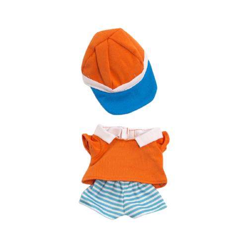 Miniland комплект одежды для куклы Warm Weather Polo Set синий/оранжевый