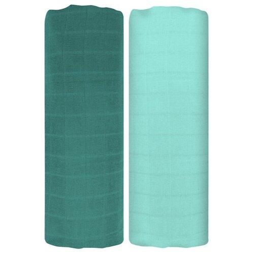 Купить Многоразовые пеленки Tommy Lise Mangrove Green Set 70х70 зелeный 2 шт. 1 шт., Пеленки, клеенки