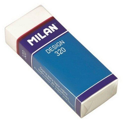 Купить Ластик пластиковый Milan Design 320, карт. держатель, белый 3 штук, Ластики