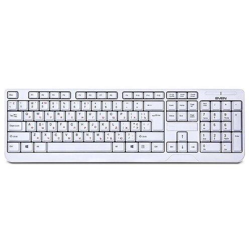 Клавиатура SVEN KB-C2200W White USB