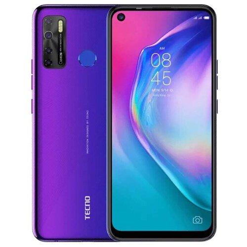 Смартфон TECNO Camon 15, фиолетовый сотовый телефон tecno camon 15 dark jade
