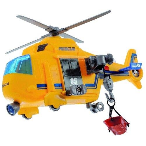 Купить Вертолет Dickie Toys спасательный (203302003), 18 см, желтый, Машинки и техника