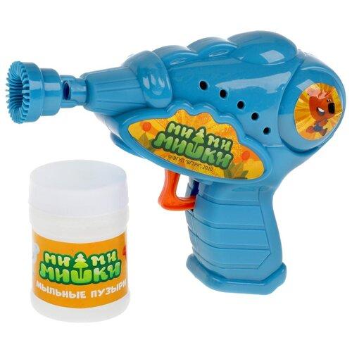 Пистолет для пускания мыльных пузырей Играем вместе Ми-ми-мишки механический, 50мл, блистер пузыри мыльные играем вместе ми ми мишки 50мл 219159