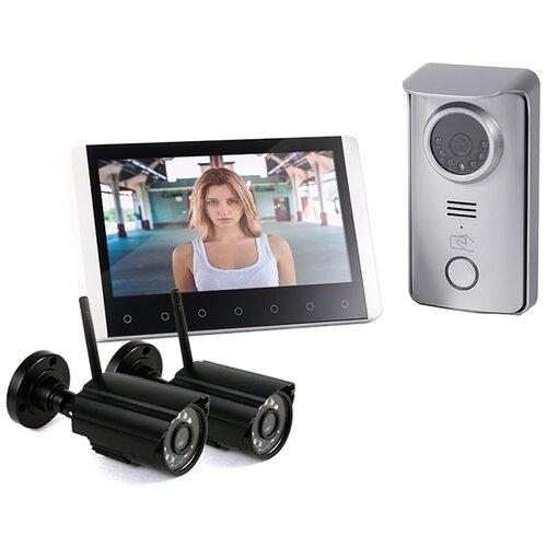 Беспроводной видеодомофон Skynet R80 с 2 камерами - видеодомофон kivos беспроводной, сколько стоит домофон с камерой
