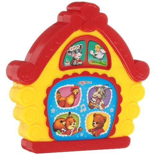Купить Развивающая игрушка Азбукварик Любимая сказочка Теремок, красный/желтый, Развивающие игрушки